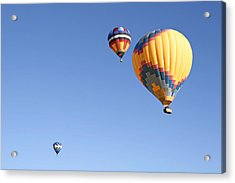Hot Air Balloon Ride A Special Adventure Acrylic Print by Christine Till