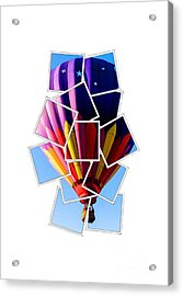 Hot Air Ballooning Tee Acrylic Print by Edward Fielding