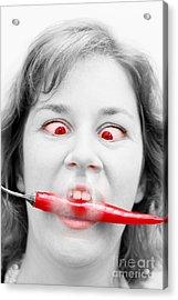 Hot Chilli Woman Acrylic Print by Jorgo Photography - Wall Art Gallery