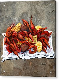 Hot Crawfish Acrylic Print by Elaine Hodges
