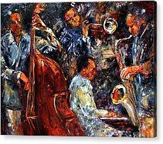 Hot Jazz Three Acrylic Print by Debra Hurd