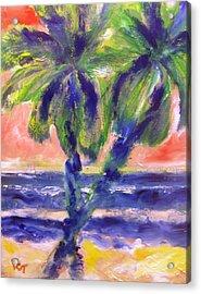 Hot Tropics Acrylic Print by Patricia Taylor