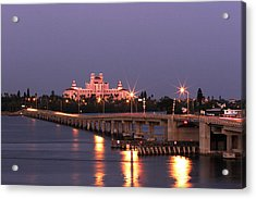 Hotel Don Cesar The Pink Palace St Petes Beach Florida Acrylic Print by Mal Bray
