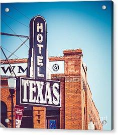 Hotel Texas Acrylic Print by Sonja Quintero