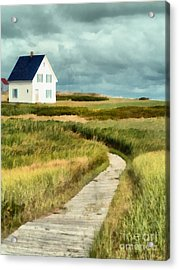 House At The End Of The Boardwalk Acrylic Print by Edward Fielding