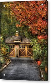 House - Classy Garage Acrylic Print by Mike Savad