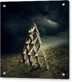 House Of Cards Acrylic Print by Zoltan Toth