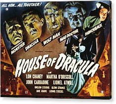 House Of Dracula, Glenn Strange, John Acrylic Print by Everett