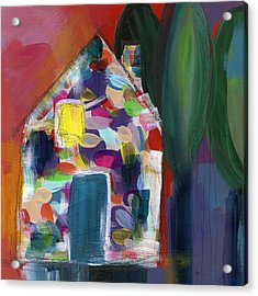 House Of Many Colors- Art By Linda Woods Acrylic Print by Linda Woods