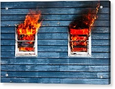 House On Fire Acrylic Print by Todd Klassy