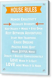 House Rules-contemporary Acrylic Print by Linda Woods