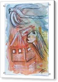 House Without A Door - Haus Ohne Tuer Acrylic Print by Mimulux patricia no