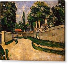 Houses Along A Road Acrylic Print by Paul Cezanne