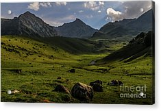 How Green Is My Valley Acrylic Print by Robert Brown