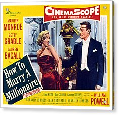 How To Marry A Millionaire, Marilyn Acrylic Print by Everett