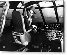 Howard Hughes, At The Controls Acrylic Print by Everett
