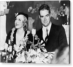 Howard Hughes Dated And Was Engaged Acrylic Print by Everett