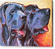 Howy And Iloy Acrylic Print by Nadi Spencer