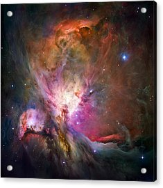 Hubble's Sharpest View Of The Orion Nebula Acrylic Print by Adam Romanowicz