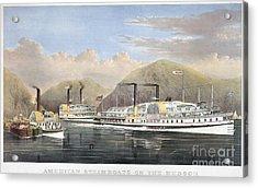 Hudson River Steamships Acrylic Print by Granger