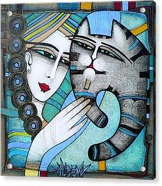 hug Acrylic Print by Albena Vatcheva