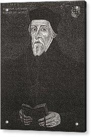 Hugh Latimer, C.1487 To 1555. Anglican Acrylic Print by Vintage Design Pics