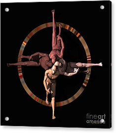 Human Cross Acrylic Print by Walter Oliver Neal