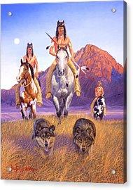 Hunters Of The Full Moon Acrylic Print by Howard Dubois