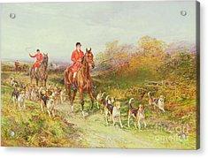 Hunting Scene Acrylic Print by Heywood Hardy