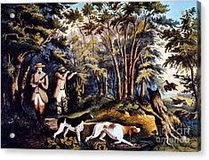 Hunting: Woodcock, 1852 Acrylic Print by Granger