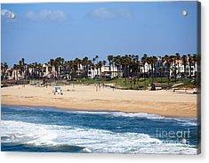 Huntington Beach California Acrylic Print by Paul Velgos