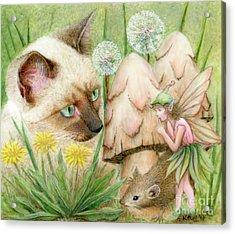 Hush Little Mouse Acrylic Print by Karen Hull