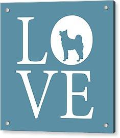 Husky Love Acrylic Print by Nancy Ingersoll