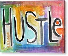 Hustle- Art By Linda Woods Acrylic Print by Linda Woods