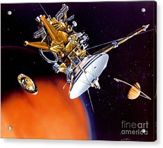 Huygens Probe Separating Acrylic Print by NASA and Photo Researchers