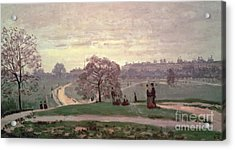 Hyde Park Acrylic Print by Claude Monet