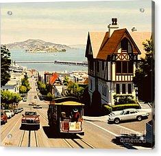 Hyde Street San Francisco Acrylic Print by Frank Dalton