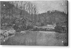 Hydes Mill - Ridgeway - Wisconsin Acrylic Print by Steven Ralser