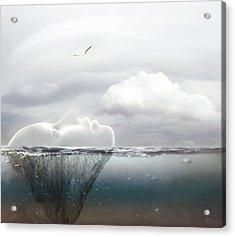I Am An Island Acrylic Print by Jacky Gerritsen