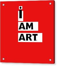 I Am Art Stripes- Design By Linda Woods Acrylic Print by Linda Woods