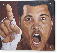 I Am The Greatest 2 Acrylic Print by Kenneth Kelsoe