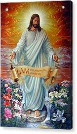 I Am The Resurrection Acrylic Print by John Lautermilch