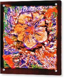 I Am Woman Who Likes Flowers Acrylic Print by Anne-Elizabeth Whiteway