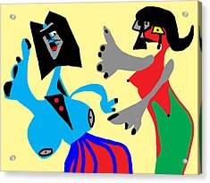 I Can Dance Like Picasso Acrylic Print by International Artist Brent Litsey