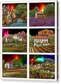 I Colori Del Cielo Acrylic Print by Guido Borelli