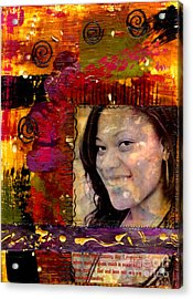 I Like Colors   What About You Acrylic Print by Angela L Walker