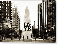 I Love Philadelphia Acrylic Print by Bill Cannon