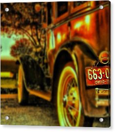 I Love This #classiccar Photo I Took In Acrylic Print by Pete Michaud
