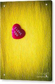 I Love You Heart Acrylic Print by Silvia Ganora