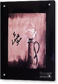 I Love You Acrylic Print by Marsha Heiken